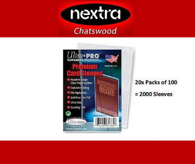 Ultra PRO- Premium Card Sleeves- 20x Pack of 100- Pokemon, AFL, Magic, MTG