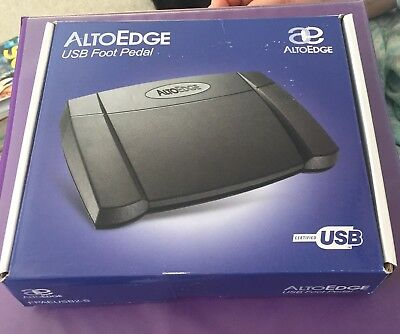 USB Transcription Foot Pedal use with Free version Express Scribe Alto Edge