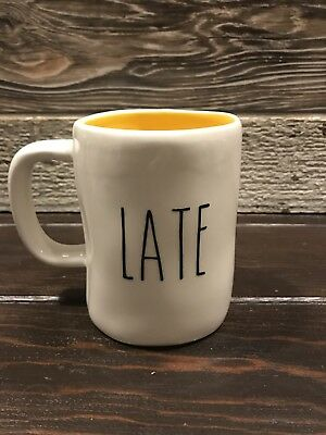 "Rae Dunn Inspired Vinyl Decal ""Late"" Farmhouse Coffee"