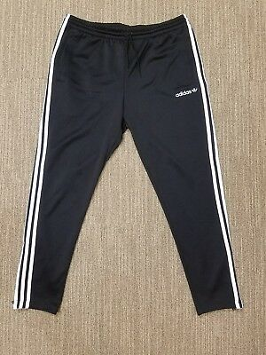 Adidas Men Black Itasca Track Pants Xl Trefoil Ay7763 Ankle Zips Tapered Legs