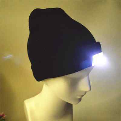 LED Lighted Cap Winter Warm Hat Beanie Angling Hunting Camping Running NEW