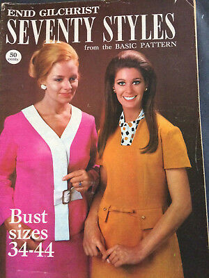 RETRO, Enid Gilchrist SEVENTIES STYLES from Basic Patterns,  pattern Drafting