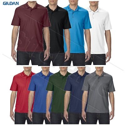 NEW Gildan BLANK performance Mens Polo Sport golf Shirt Jersey T-Shirt G45800