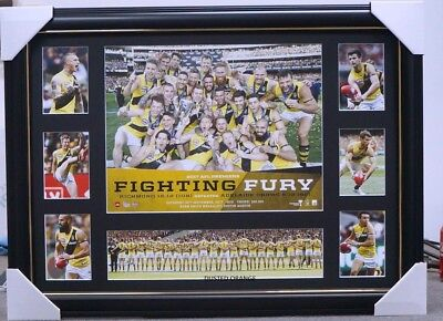 Richmond 2017 Afl Premiers Tribute Print Framed -  Trent Cotchin Dustin Martin