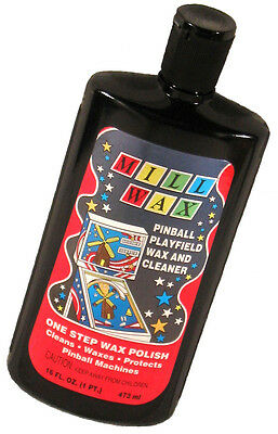 Mill Wax Pinball Machine Playfield Cleaner FRESH STOCK! Free Shipping! New!