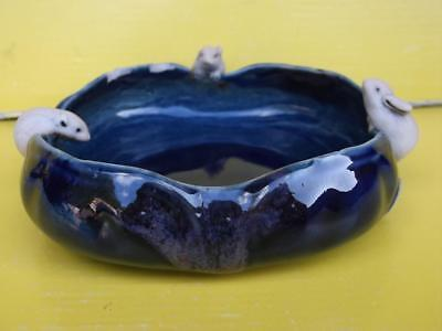 642 / Antique Late 19Th Century Chinese Porcelain Brush Washer With Rats
