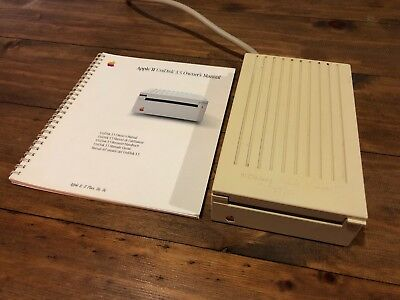 Apple II UniDisk 3.5 Floppy Disk Drive with Manual Working Rare Vintage
