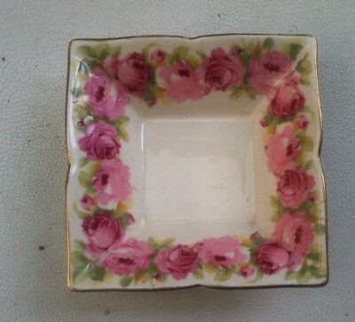 Vintage Royal Doulton Old Country Roses butter jam or pin dish 9cm square