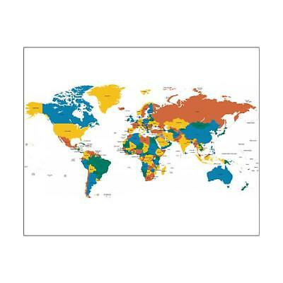 """10""""x8"""" (25x20cm) Print Hight detailed divided and labeled world map"""