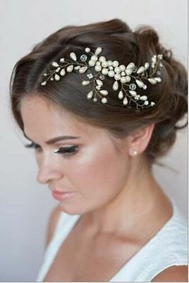 Wedding womens hair bride Accessories Hair  Pearls Clip Pin Bridal head Piece