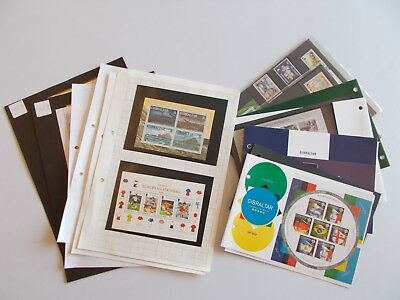 Gibraltar - Unmounted mint accumulation of commemoratives, miniature sheets etc.