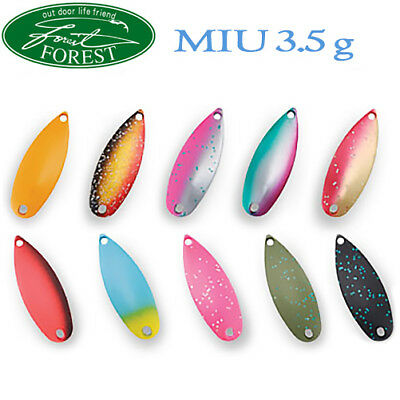Assorted Colors FOREST MIU 3.5 g Trout Spoon