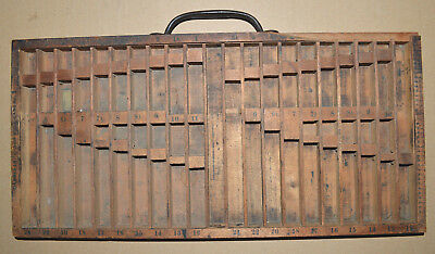 Vintage Letterpress Harris Improved Rule Case No. 1 by Hamilton