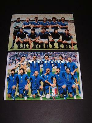 Italy 1982 & 2006 World Cup Final Dino Zoff Paolo Rossi Tardelli Cannavaro