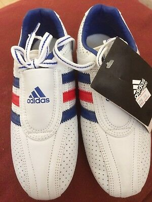 Adidas Martial Arts Trainers White  With Red And Blue