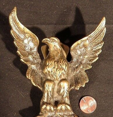 Antique Cast English BRASS EAGLE Door Knocker England QUALITY! heavy doorknocker
