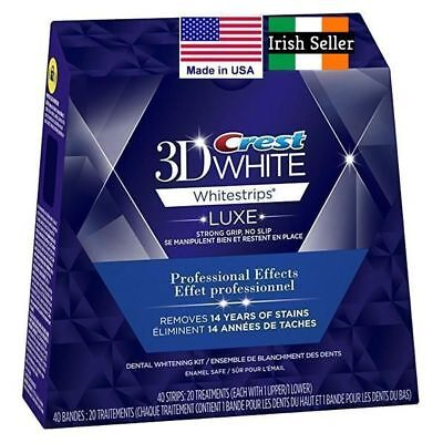 20 Crest3D Professional Effects 10 Day Kit Teeth Whitening Strips. Made In Usa