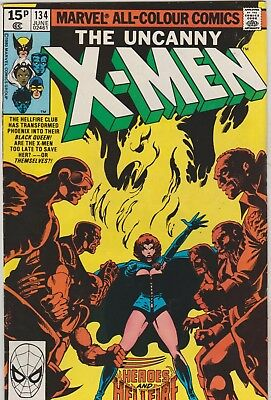*** Marvel Comics Uncanny X-Men #134 Dark Phoenix Saga F+ ***