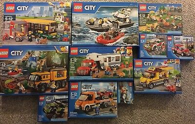 LEGO CITY Lot Of 11 sets  60160 60154 60129 60182 60134 All BRAND NEW AND SEALED