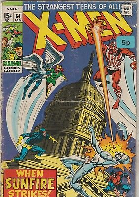 *** Marvel Comics X-Men #64 1St Sunfire G ***