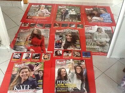 rare lot grand Format  8 affiches Paris Match  KATE MIDDELTON PRINÇE WILLIAM