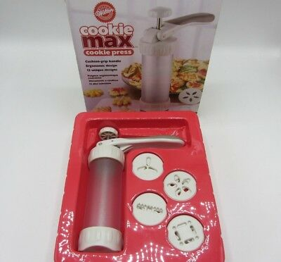 Wilton 2104-4003 Cookie Max Cookie Press 12 Shapes Designs Holiday Party