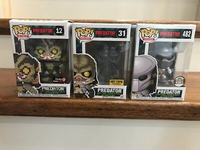 Funko POP! PREDATOR Bloody HOT TOPIC 31 Specialty Series 482 8 Bit 12 Exclusive