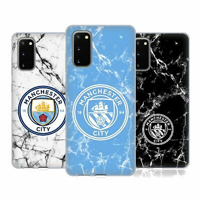 Manchester City Man City Fc 2017/18 Marble Badge Gel Case For Samsung Phones 1