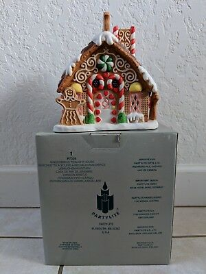 Partylite Christmas Gingerbread Tealight House P7304 RETIRED