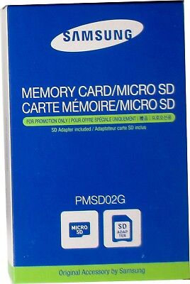 Samsung Flash-Speicherkarte / Memory Card/Micro SD  2 GB mit SD Adapter