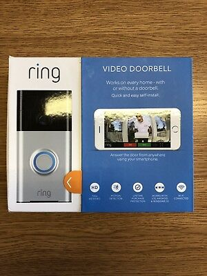 Ring Video Doorbell - Motion Activated 720HD Video 2-Way Talk Security Camera