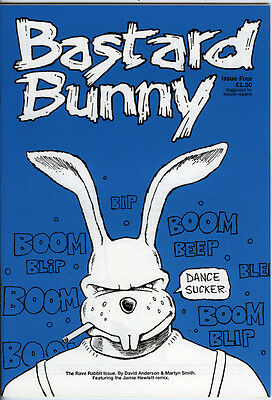Bastard Bunny Issue 4 From 1992 Cult Small Press B & W Comic For Mature Readers