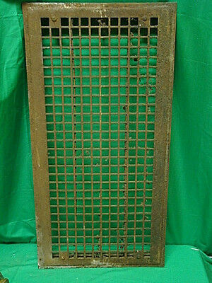 Huge Vintage 1920S Iron Heating Grate Square Design 16 X 32