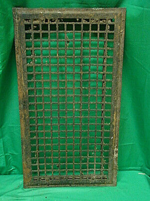Huge Vintage 1920S Iron Heating Grate Square Design 14 X 26