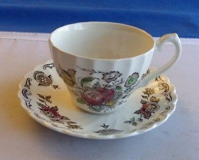 VINTAGE Myotts Staffordshire Cup and Saucer Bouquet Pattern Vintage England