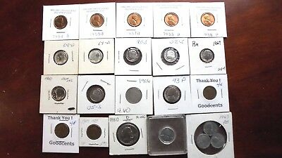 Nice Lot from Pennies to a Dollar, Proof dimes, 1909VBD, 1906 Nickel Mixed Mints