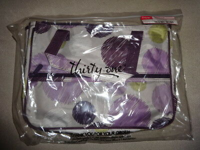 Thirty-One Gifts Thirtyone 31 True Beauty Bag BRAND NEW Set of 2 Sketchy Dot