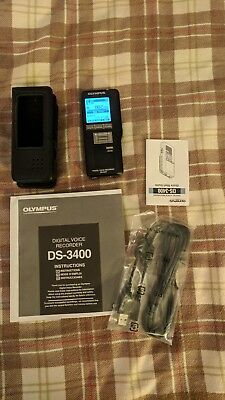 Olympus DS-3400 Expandable High-Quality Performance Digital Voice Recorder