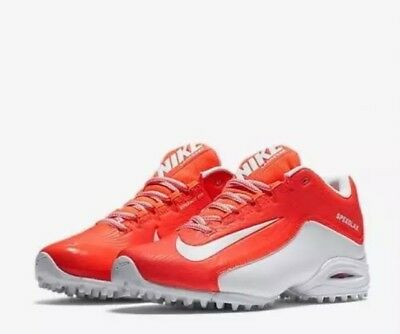 Nike SpeedLax 5 Turf Lacrosse Cleat/shoe Women's Size 12 Orange White 807157-811