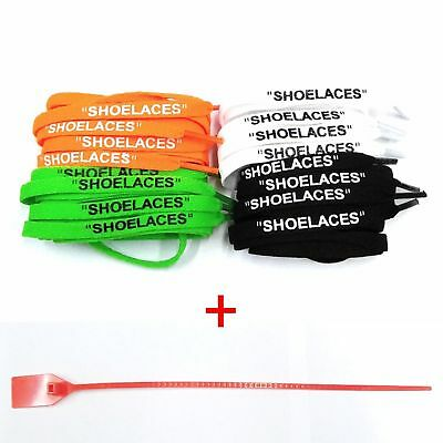 "FAST SHIPPING ""SHOELACES"" Flat Laces + Zip Tie Replacement Off-White ""The Ten"""