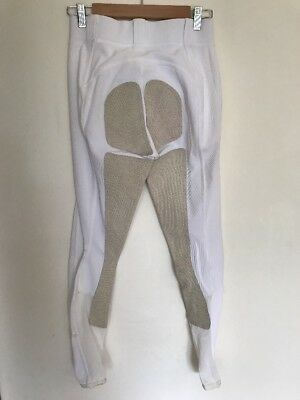 Fits Riding Breeches White Full Seat (Deer Skin) Size Small Excellent Condition