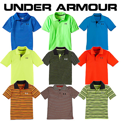 Under Armour Boys Match Play Polo - Size 2T, 3T, 4T, 4, 5, 6, 7 - New w/ Tags