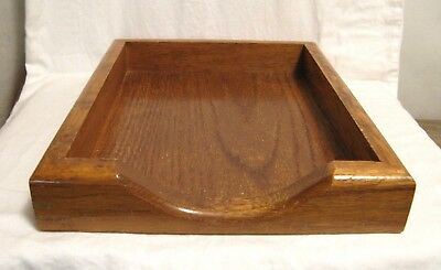 VTG Solid WOOD Office DESK TRAY~Paper FILE Organizer IN/OUT BOX~10.5x13