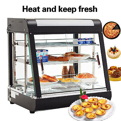 Commercial Food Pizza Heated Display Warmer Cabinet Case Restaurant Food Court