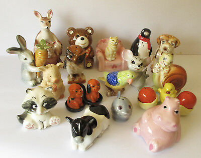 Fabulous selection of modern / vintage Salt and Pepper shakers - Animals - VGC.