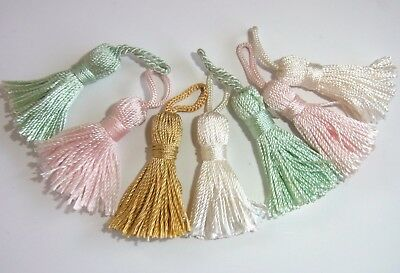 Pastel Decorative Small Tassels  6 Pieces approx 4cm