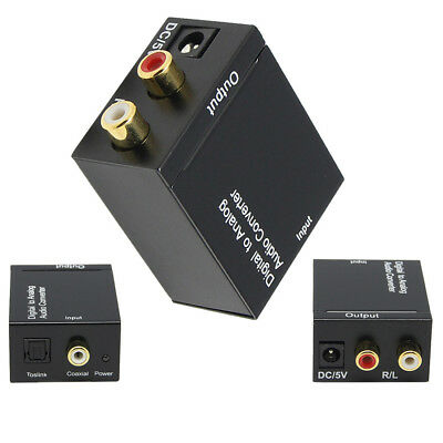 Optical Coaxial Toslink Digital to Analog Audio Converter Adapter RCA L/R 3.5mm
