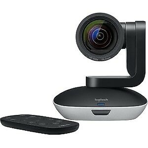 NEW! Logitech Video Conferencing Camera 30 Fps Black Silver Usb 1920 X 1080 Vide
