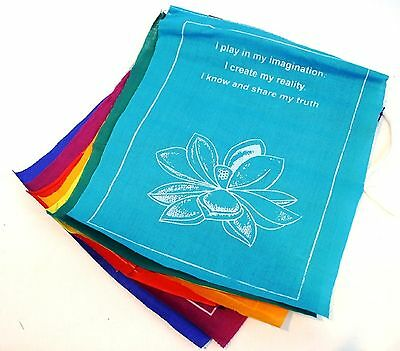 Healing Lotus, Meditation,7 Positive Affirmations/7 Colours/7 Flags - 24 x 20 cm