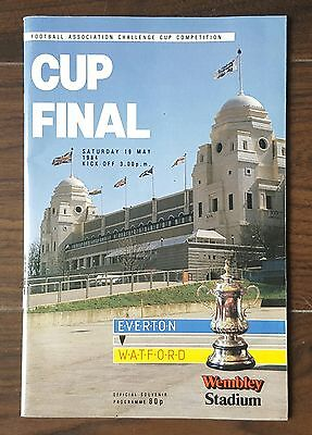 1984 FA CUP FINAL EVERTON v WATFORD FOOTBALL PROGRAMME 19 MAY 1984